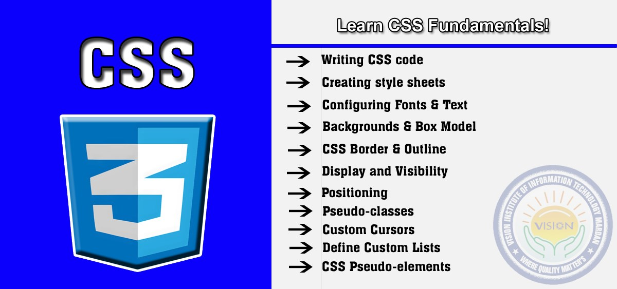 Learn CSS in web designing