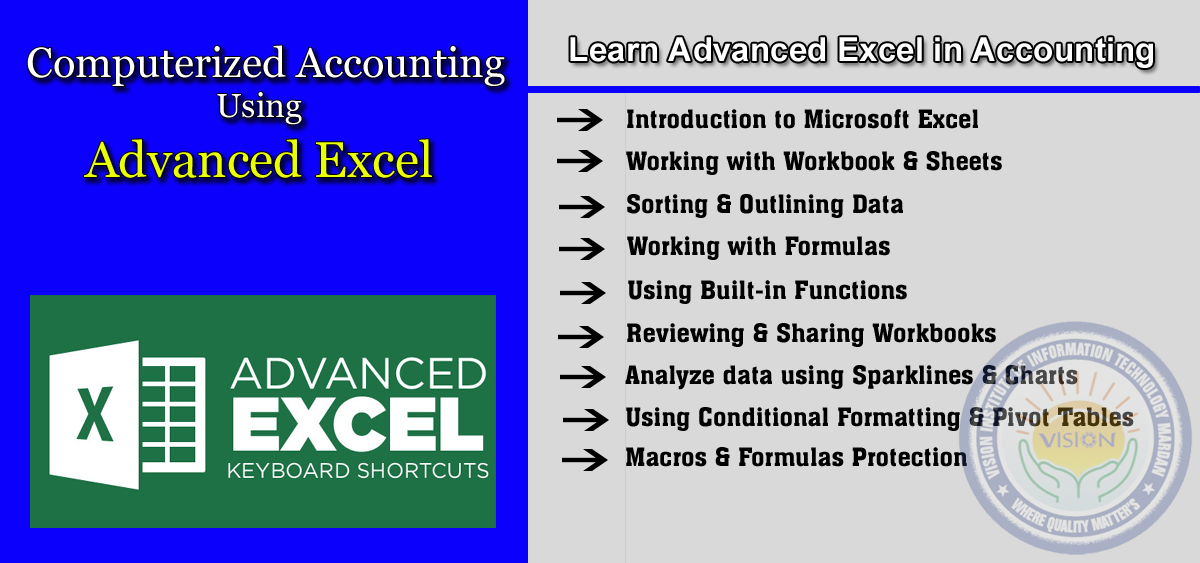 Learn Advanced Excel in Computerized Accounting