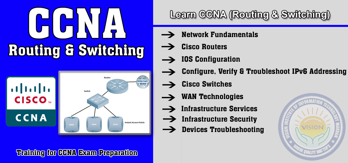 Learn CCNA with complete practical and theoretical knowledge and get training for Cisco CCNA exam