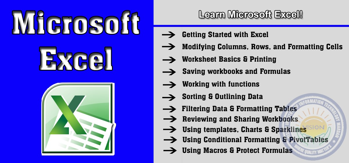Learn Microsoft Excel in Computer Essential Training (CET)
