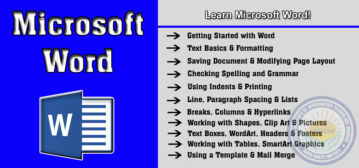 Learn Microsoft Word in Computer Essential Training (CET)
