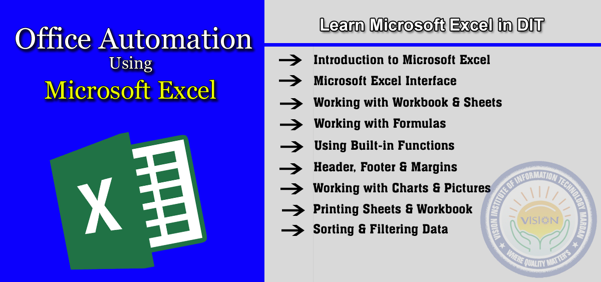 Learn Microsoft Excel in D-I-T