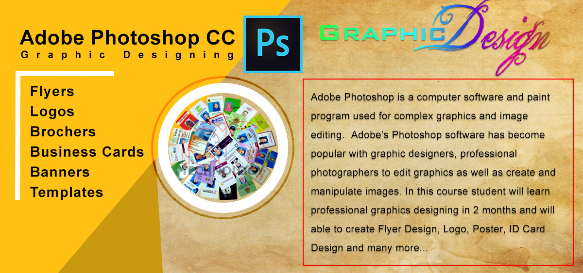 InPage :: Graphics Designing :: Vision Institute of IT Mardan
